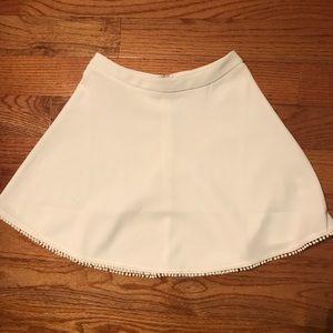 Tobi white skater mini skirt